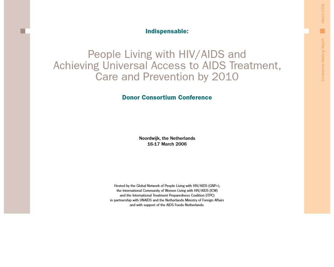 Donor Consortium Conference Report 2006